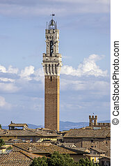 the torre del mangia, Siena - Italy