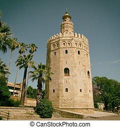 Torre del Oro - The Torre del Oro (Gold Tower) in Seville, ...