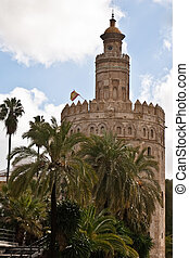 The Torre del Oro in Seville, Spain