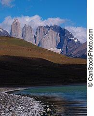 The Torres in the Torres del Paine - The Cordillera del...