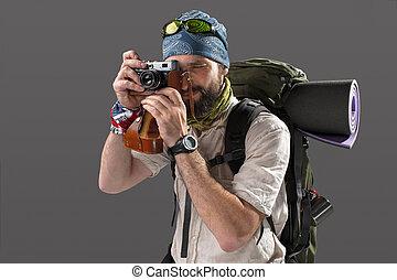tourist with camera