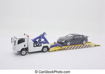 the tow truck childrens toys on working
