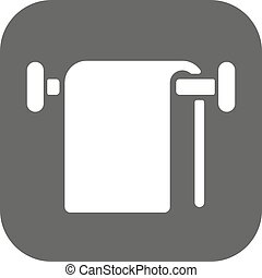 The towel icon. Bathroom symbol. Flat Vector illustration....