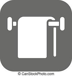 The towel icon. Bathroom symbol. Flat Vector illustration....