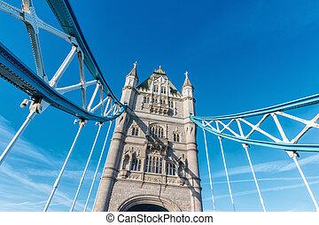 The Tower Bridge in London, UK, England