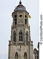 The tower of a church