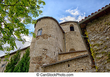 tower of an old castle in France
