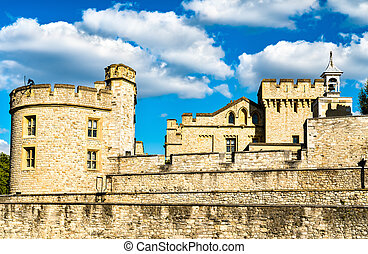 The Tower of London, a historic castle in England