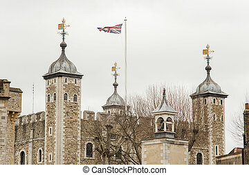 the Tower of London in London city, UK