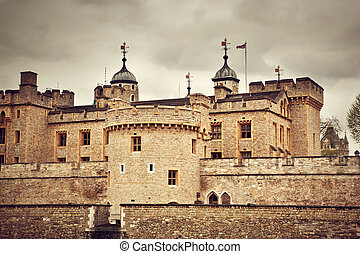 The Tower of London, the UK. The historic Royal Palace and Fortress