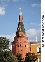 The Tower of Moscow Kremlin, Russia
