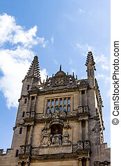 Tower of the Five Orders housing the Bodleian Library in Oxford