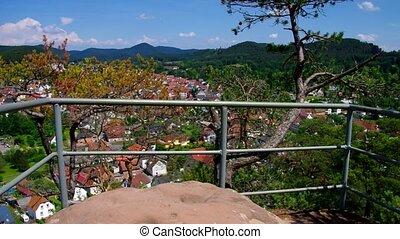 the town Dahn in Dahn Rockland, Germany