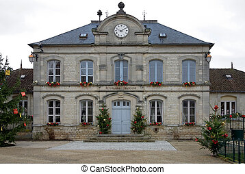 Town Hall - The Town Hall of a small town in country France