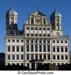 The Town Hall of Augsburg - The town hall of Augsburg,...