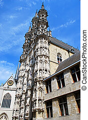 The Town Hall on the Main Market square in Leuven, Flemish Brabant, Belgium