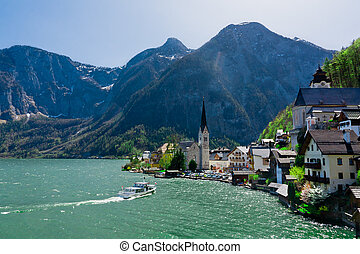 The town of Hallstatt