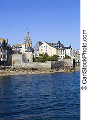 Roscoff - the town of Roscoff in coast of the north of ...