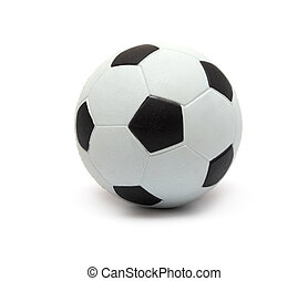 Toy football on a white background