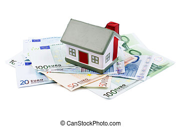 toy house for euro banknotes
