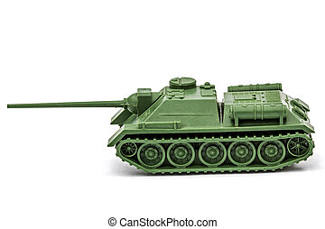 The toy tank, isolate on white background