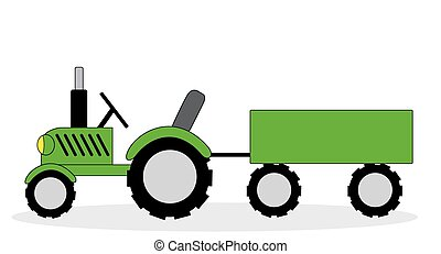 the tractor and cart