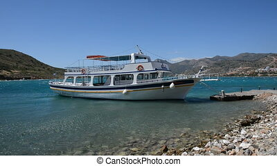 The traditional Greek motor yacht for tourists...