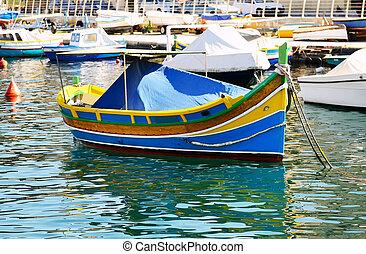 The traditional Maltese Luzzu boat, Malta
