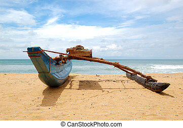 The traditional Sri Lanka's boat for fishing