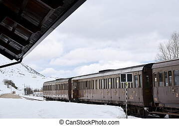 the train in winter