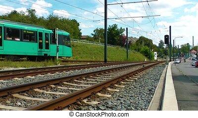 The Train in Frankfurt. They call U Bahn