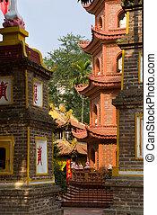The Tran Quoc Pagoda in Hanoi, Vietnam