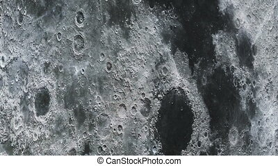 The travel of the camera on the surface of the moon in high quality