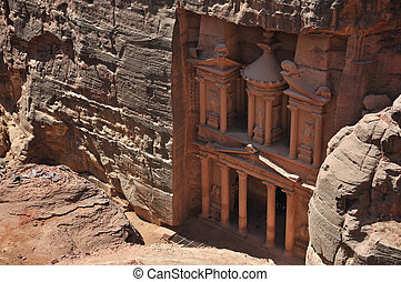 "The Treasury at Petra - Al Khazneh (""The Treasury\"") is one..."