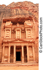 The treasury at Petra, Lost rock city of Jordan.