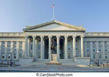 The Treasury Department in Washington D.C., daytime photo