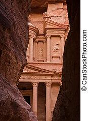the Treasury (Khazne) in Petra, Jordan