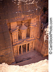 The Treasury of Petra city, Jordan - The Treasury of Petra...