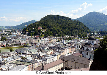 Kapuzinerberg stands in the middle of Salzburg city
