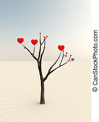 The Tree Of Love - Conceptual image for romantic concepts.