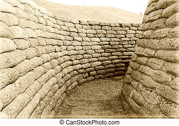 The trenches on battlefield of Vimy world war one France