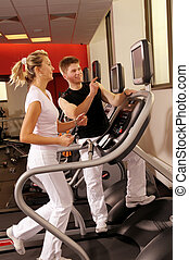 The trenning in fitness centre