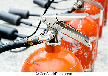 The trigger fire extinguisher used