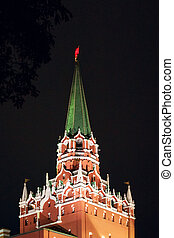 The Trinity Tower of Kremlin in red square, Moscow, Russia