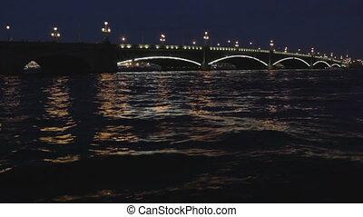 The Troitsky bridge in Saint Petersburg. - The Troitskiy...