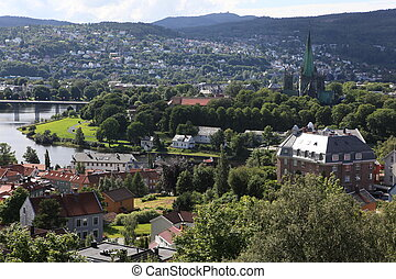 The Trondheim small town in Norway