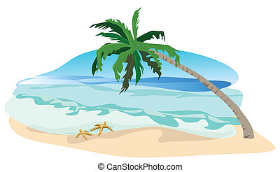 The Tropics - Tropical landscape illustration isolated on ...