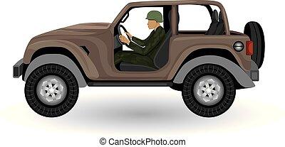 the truck vector design