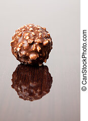 truffle - the truffle on wooden background