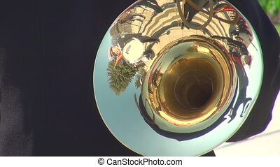 The trumpet in a brass band